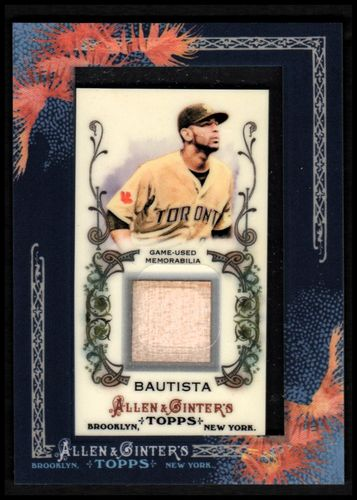 Photo of 2011 Topps Allen and Ginter Relics #JBA Jose Bautista