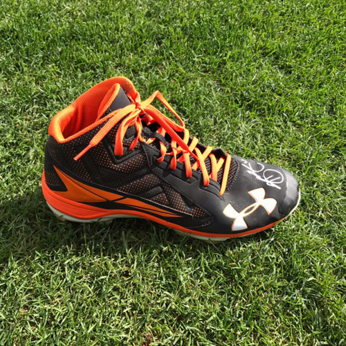 Photo of San Francisco Giants - NLDS Game 4 - Autographed Cleat - Hunter Strickland