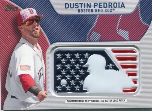 Photo of 2017 Topps Independence Day MLB Logo Patch #IDMLDP Dustin Pedroia