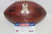 CARDINALS - STS GAME USED FOOTBALL W/ SALUTE TO SERVICE RIBBON LOGO (NOVEMBER 2015)