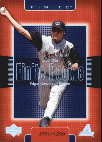 Photo of 2003 Upper Deck Finite #225 Edgar Gonzalez T1 RC