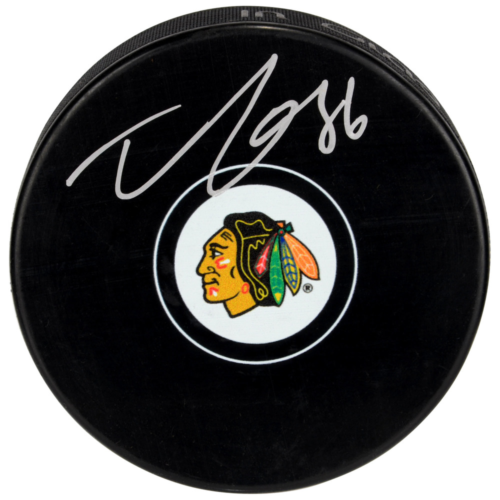 Teuvo Teravainen Chicago Blackhawks Autographed Hockey Puck