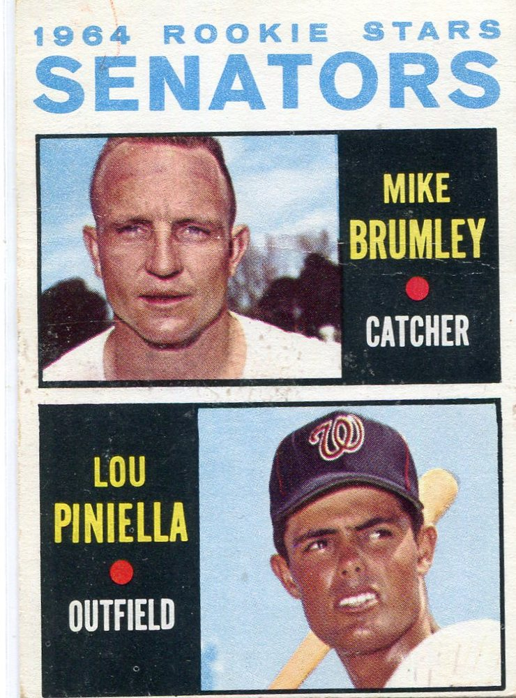 1964 Topps #167 Rookie Stars/Mike Brumley RC/Lou Piniella Rookie Card