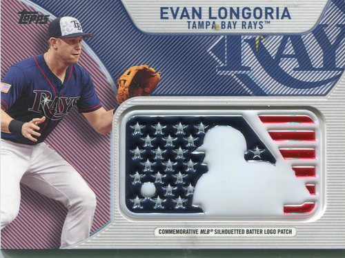Photo of 2017 Topps Independence Day MLB Logo Patch #IDMLEL Evan Longoria