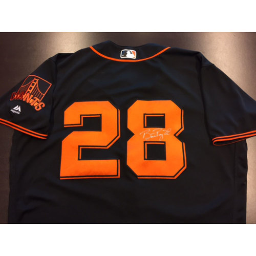 Giants Metallica Auction: Buster Posey Signed 8/7/2017 Game-Used Jersey - 1,000th Game!