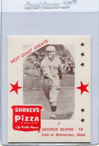 Photo of 1975 Shakey's Pizza #7 George Burns