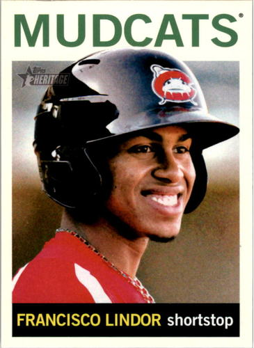 Photo of 2013 Topps Heritage Minors #85 Francisco Lindor -- Indians post-season