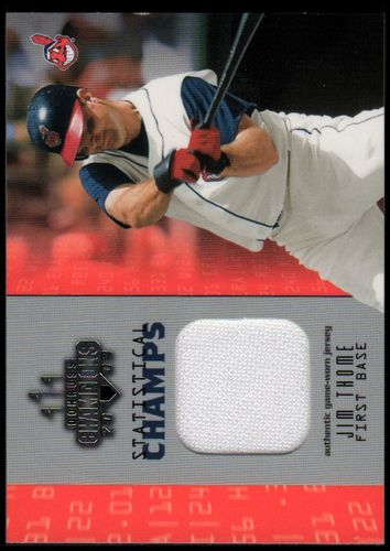 Photo of 2003 Donruss Champions Statistical Champs Materials #8 Jim Thome Jsy/250