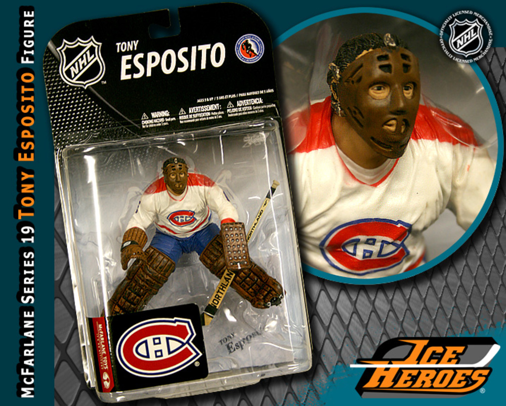 TONY ESPOSITO McFarlane Series 19 Action Figure - MIB - Montreal Canadiens