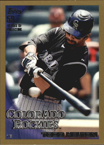 Photo of 2010 Topps Gold Border #509 Todd Helton
