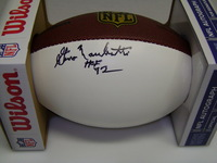 HOF - COLTS GINO MARCHETTI SIGNED PANEL BALL