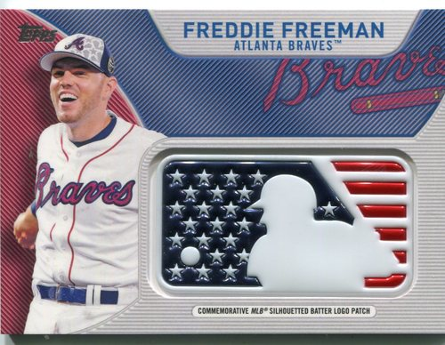 Photo of 2017 Topps Independence Day MLB Logo Patch #IDMLFF Freddie Freeman