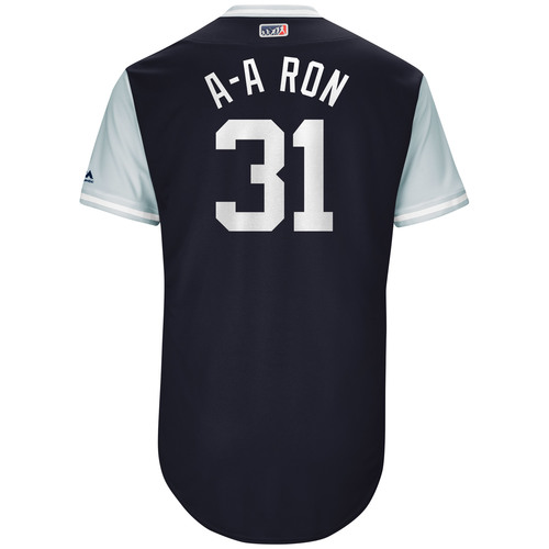 "Photo of Aaron ""A-A Ron"" Hicks New York Yankees Game-Used Players Weekend Jersey"
