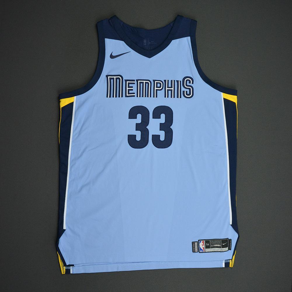 Marc Gasol - Memphis Grizzlies - Statement Game-Worn Jersey  - 2017-18 Season
