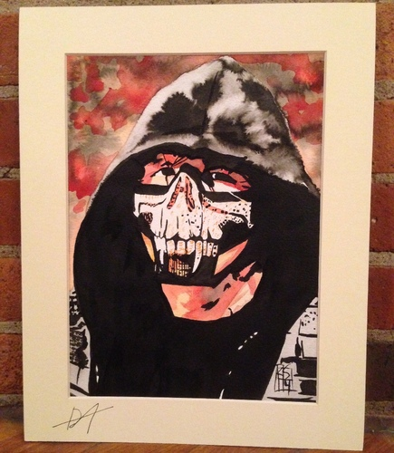 Dean Ambrose Signed Painting by Rob Schamberger
