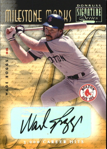 Photo of 2001 Donruss Signature Milestone Marks #3 Wade Boggs/98