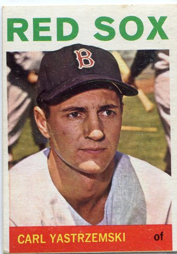 Photo of 1964 Topps #210 Carl Yastrzemski -- Red Sox Hall of Famer