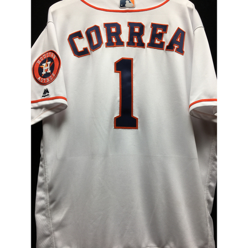 Photo of Team-Issued 2016 Carlos Correa Home White Jersey