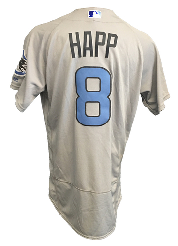 Photo of Ian Happ Game-Used Father's Day Jersey -- Cubs vs Pirates -- 6/17/17