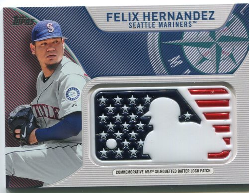 Photo of 2017 Topps Independence Day MLB Logo Patch #IDMLFH Felix Hernandez