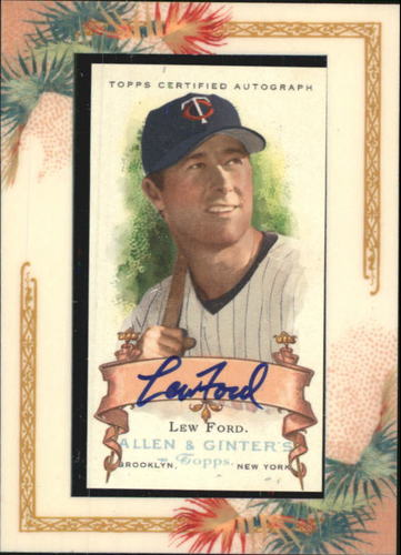 Photo of 2006 Topps Allen and Ginter Autographs #LF Lew Ford G