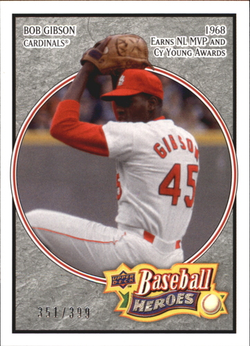 Photo of 2008 Upper Deck Heroes Charcoal #163 Bob Gibson