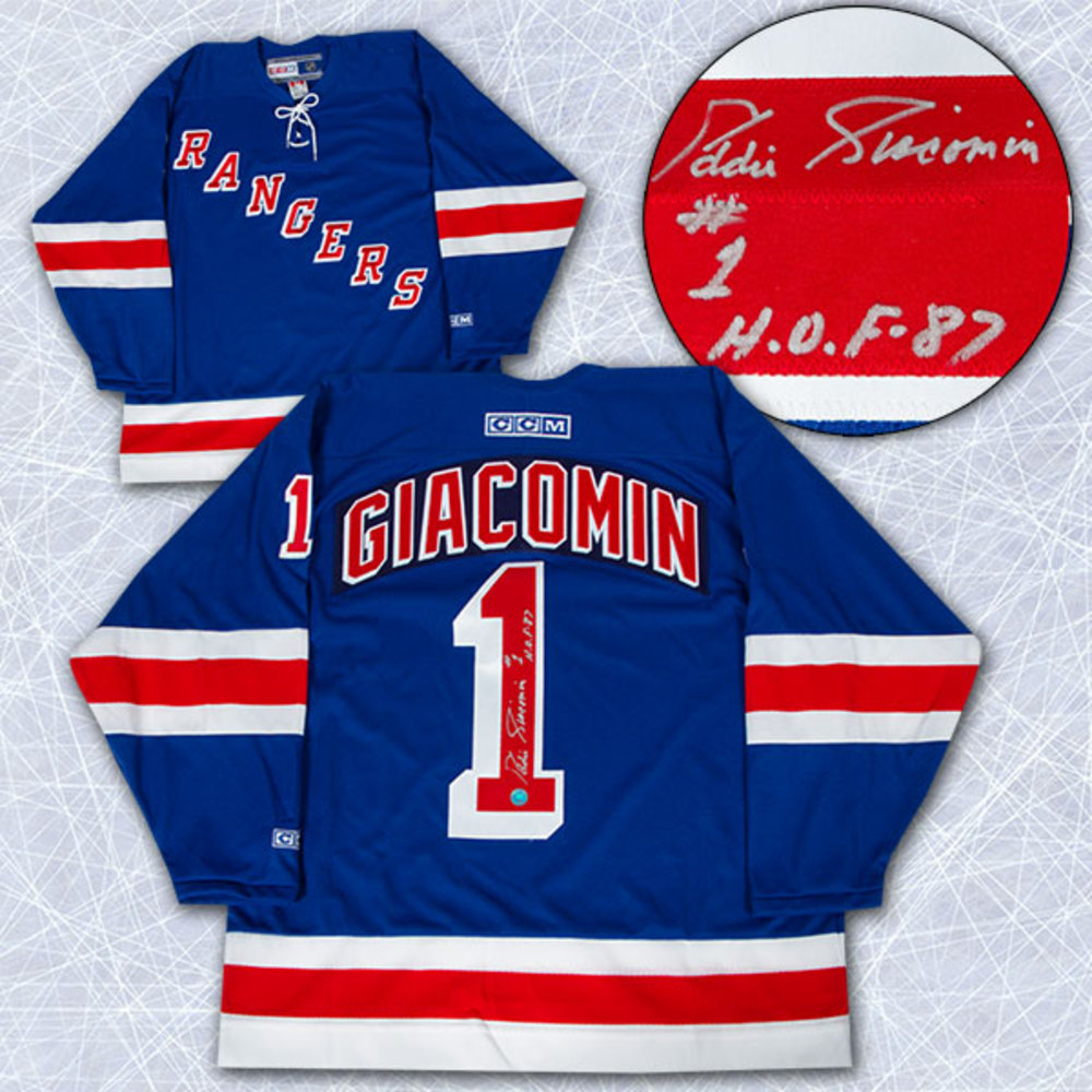 Ed Giacomin New York Rangers Autographed Retro CCM Hockey Jersey