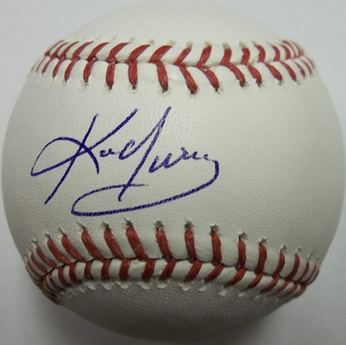 Photo of Kevin Youkilis Autographed Baseball