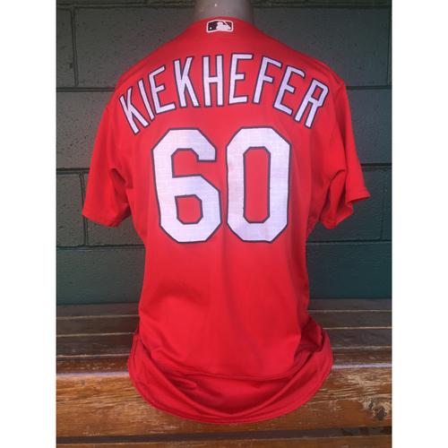 Cardinals Authentics: Dean Kiekhefer Red Batting Practice Jersey