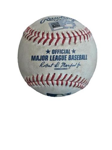 Photo of Game-Used Baseball from Pirates vs. Dodgers on 8/21/17 - Adrian Gonzalez Single, Career Hit #1999