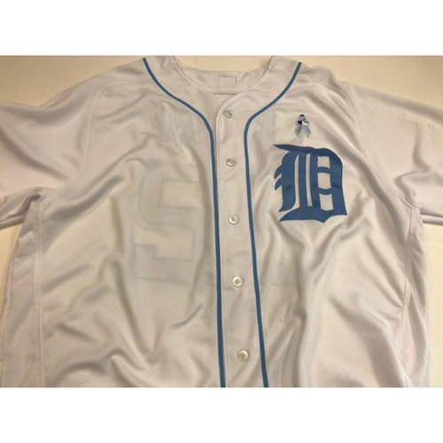 Photo of Game-Used Gene Lamont Father's Day Jersey