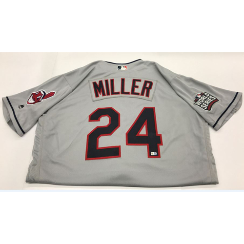 Photo of Andrew Miller Team-Issued 2016 World Series Road Jersey