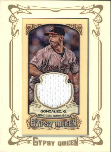 Photo of 2014 Topps Gypsy Queen Framed Mini Relics #GMRGG Gio Gonzalez