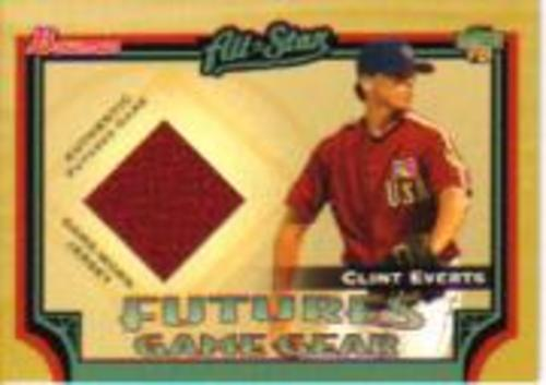Photo of 2005 Bowman Futures Game Gear Jersey Relics #CE Clint Everts