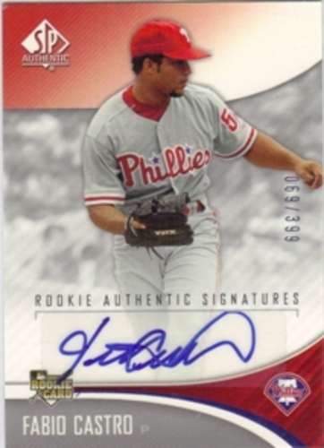 Photo of 2006 SP Authentic #216 Fabio Castro AU/399 RC