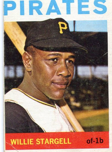 Photo of 1964 Topps #342 Willie Stargell -- Pirates Hall of Famer