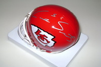 CHIEFS - CAIRO SANTOS SIGNED CHIEFS MINI HELMET