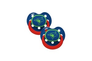 Toronto Blue Jays 2 Pack Glow in The Dark Baby Pacifiers by SP Images
