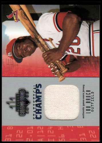 Photo of 2003 Donruss Champions Statistical Champs Materials #15 Lou Brock Jsy/250