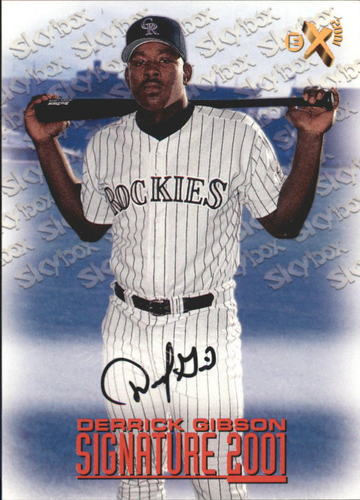 Photo of 1998 E-X2001 Signature 2001 #2 Derrick Gibson
