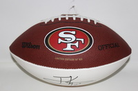 49ERS - FRANK GORE LASER INSCRIBED SIGNATURE PANEL BALL W/ 49ERS LOGO (49ERS ALL-TIME RUSHING LEADER 10000+ RUSHING YARDS) LIMITED EDITION OF 504