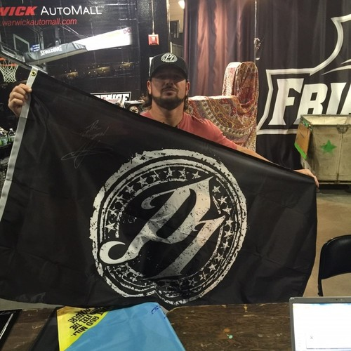 Photo of AJ Styles SIGNED Flag