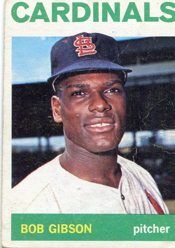 Photo of 1964 Topps #460 Bob Gibson -- Cardinals Hall of Famer