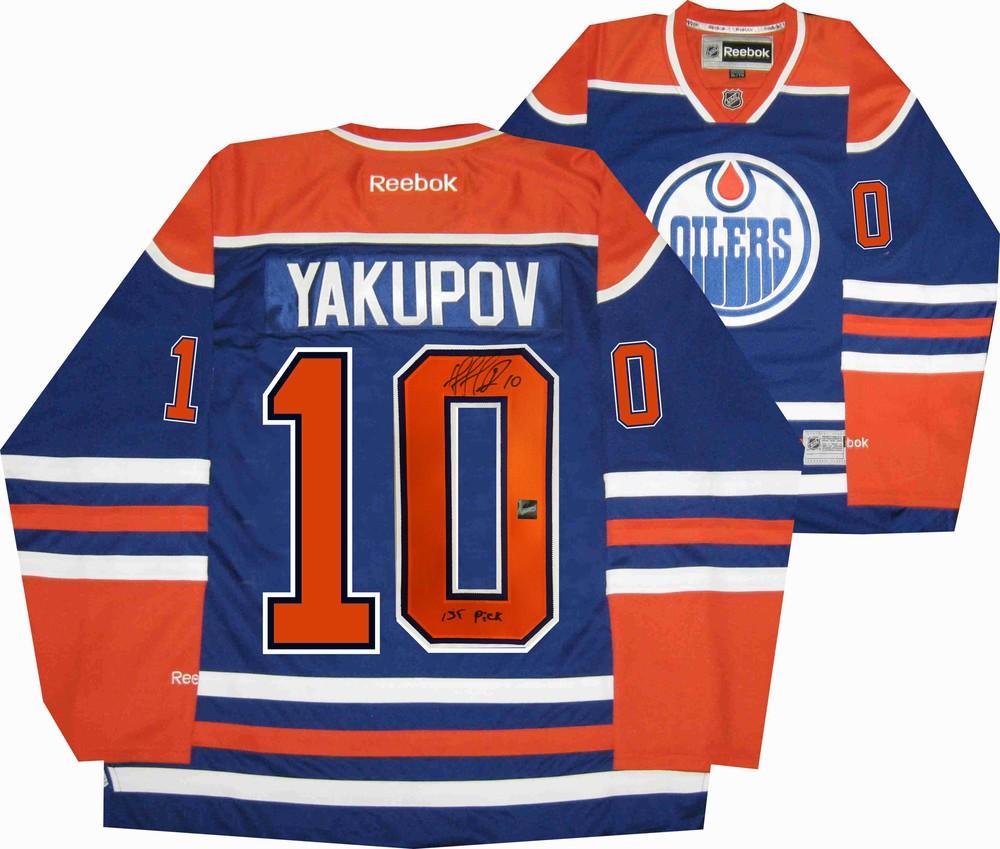 Nail Yakupov - Signed Edmonton Oilers Blue Inscribed