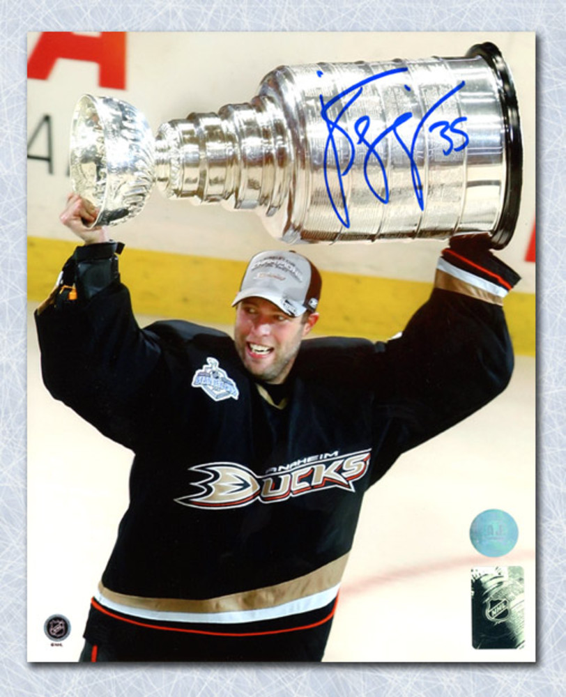 Jean-Sebastien Giguere Anaheim Ducks Autographed 2007 Stanley Cup 8x10 Photo