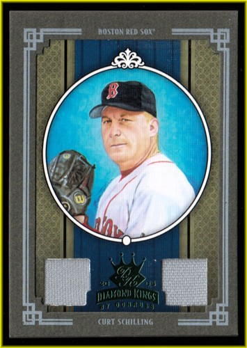 Photo of 2005 Diamond Kings Materials Framed Green #327 Curt Schilling Sox Jsy-Jsy/25