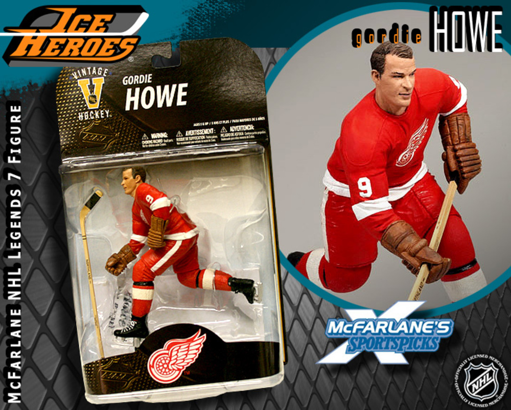 GORDIE HOWE McFarlane Legends 7 Action Figure - MIB - Detroit Red Wings