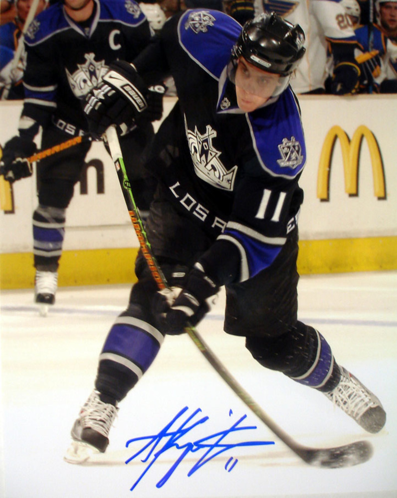 Anze Kopitar - Signed 8x10 Dark Slapshot Los Angeles Kings