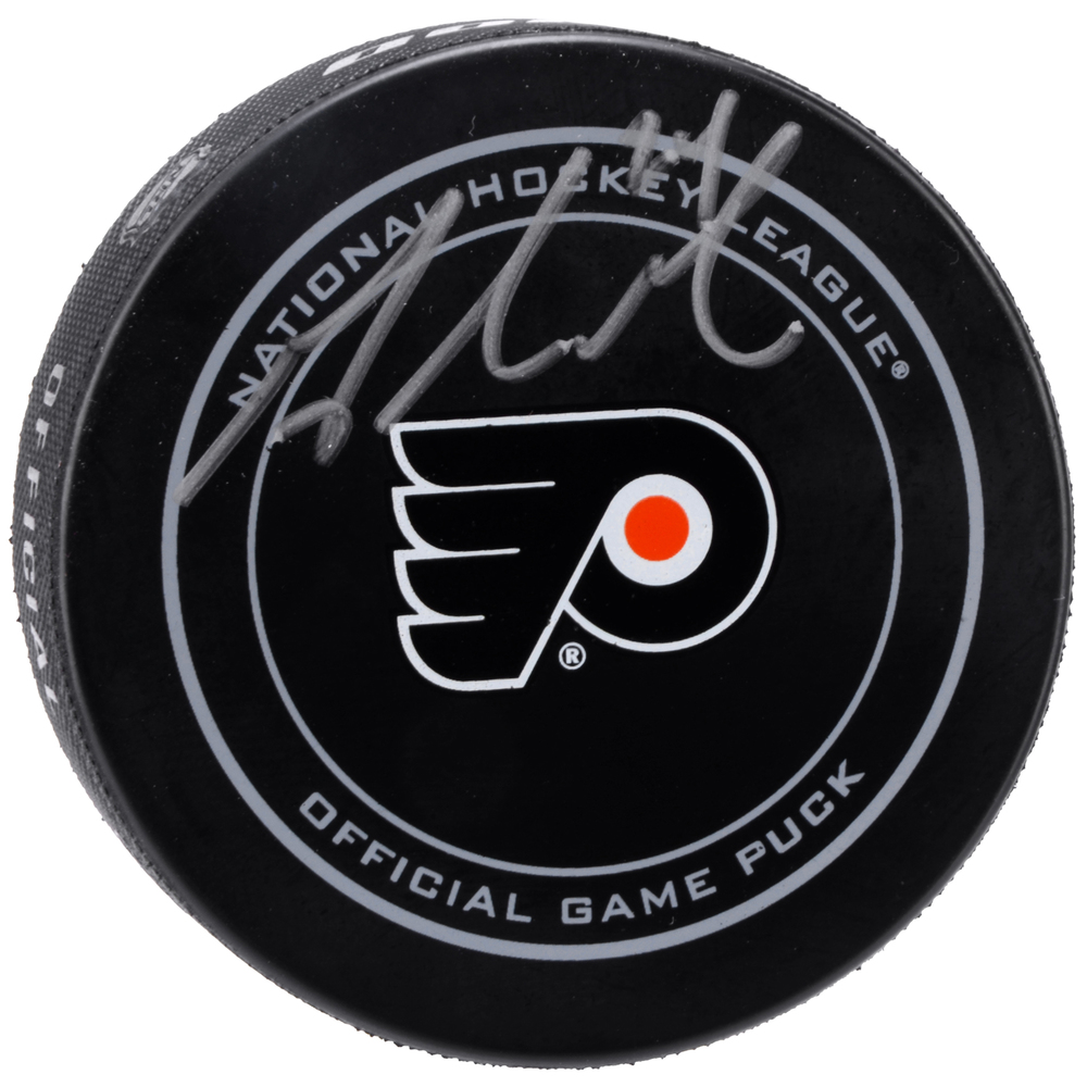 Matt Read Philadelphia Flyers Autographed Official Game Puck