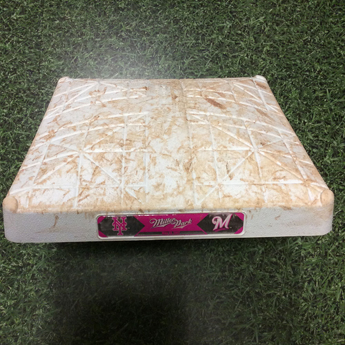 Photo of Game-Used 05/13/17 2nd Base - NYM@MIL - Travis Shaw 3-Run HR (8)
